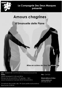"""Affiche 2016 """"Amours chagrines"""""""